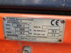 Kubota – KX61-3 – #179979
